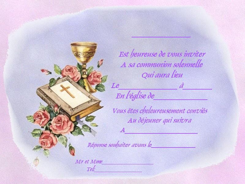 Bien-aimé Fairepart communion CU21